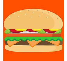 Fast Food Cheeseburger Deluxe...with cheese! Photographic Print