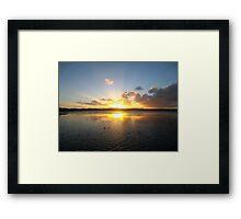 Long Jetty Sunset Framed Print