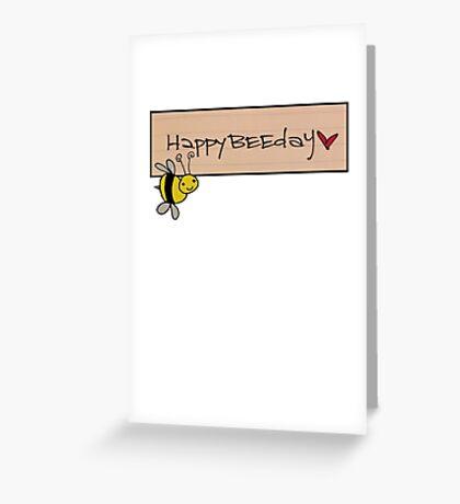 BEEDAY LOVE Greeting Card