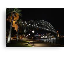 Sydney Harbour Bridge @ night Canvas Print