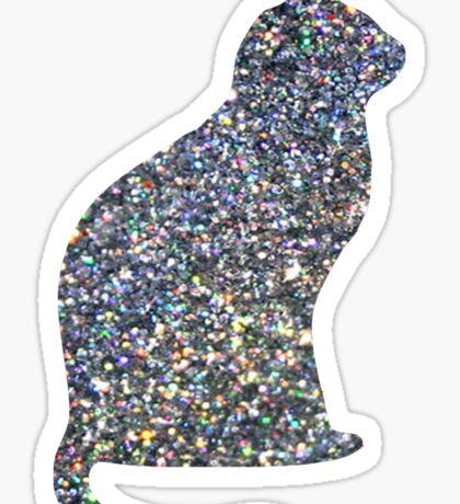 Holo Linear Glitter Cat Sticker