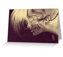 X-Ray Girl Greeting Card