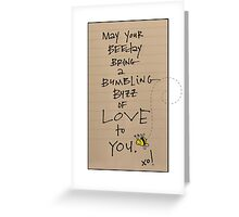 BUMBLING BEEDAY  Greeting Card