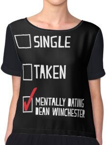 Mentally Dating Dean Winchester Chiffon Top