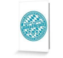 Königlich bayerisch unterhopft Greeting Card