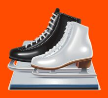 Ice hockey shoes icons Kids Tee