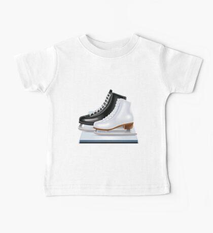 Ice hockey shoes icons Baby Tee