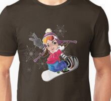 Girl snow boarding Unisex T-Shirt