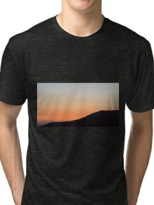 sunset at the countryside Tri-blend T-Shirt