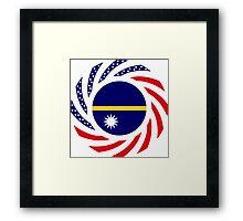 Nauru American Multinational Patriot Flag Series Framed Print