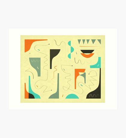 SMALL TALK Art Print