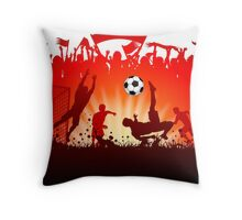 Soccer abstract style backgrounds Throw Pillow