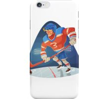 Funny cartoon baseball sporting design iPhone Case/Skin