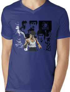 Bruce lee Mens V-Neck T-Shirt
