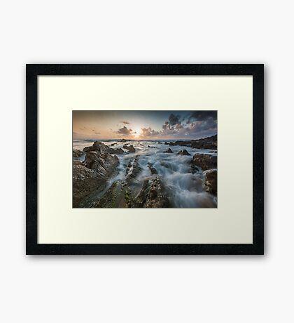 Barrika sunset Framed Print