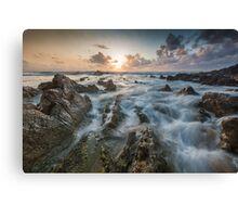 Barrika sunset Canvas Print