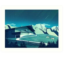 Alpine Hut Art Print