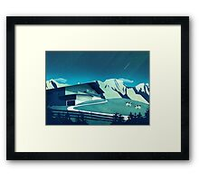 Alpine Hut Framed Print
