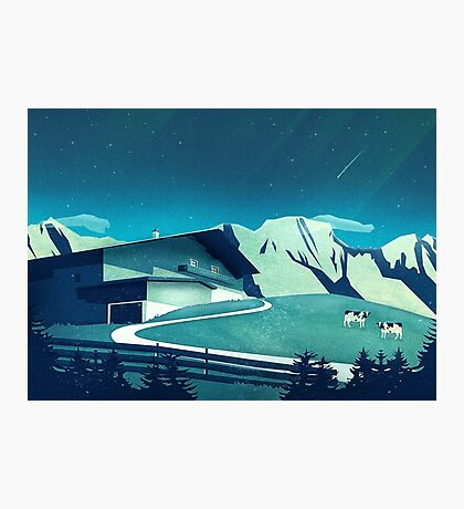 Alpine Hut Photographic Print