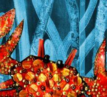 Posidonia oceanica + crab Sticker