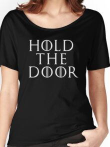 Game of Thrones - RIP Hodor (Hold the Door) Tshirt Women's Relaxed Fit T-Shirt