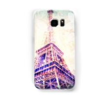 Eiffel Tower, Pink and Mint Green and Butterflies Samsung Galaxy Case/Skin