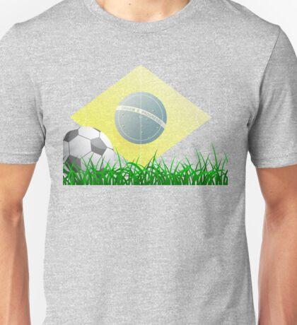 Soccer ball on grass field Unisex T-Shirt