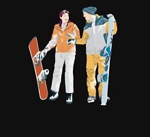 Snowboard boy amp girl illustration T-Shirt