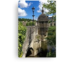 The Town Bridge, Bradford on Avon, Wiltshire, United Kingdom. Canvas Print