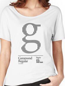 The Letter G Garamond Type Women's Relaxed Fit T-Shirt