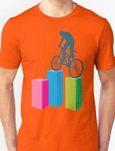 Cycling on blocks art T-Shirt