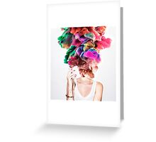 Boom Face Greeting Card
