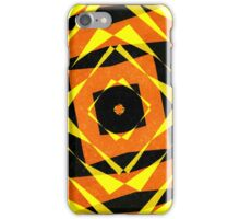 Orange and yellow striped shapes iPhone Case/Skin
