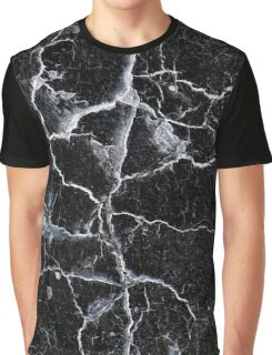 Cracked black wall background Graphic T-Shirt