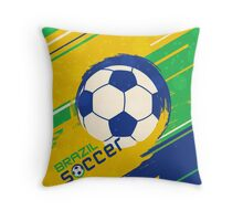 Brazil soccer world cup background Throw Pillow
