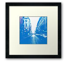 City Street Scene  Framed Print