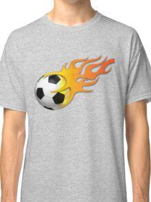 Football on fire art Classic T-Shirt