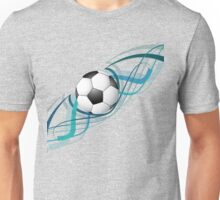 Abstract football colorful line wave design Unisex T-Shirt