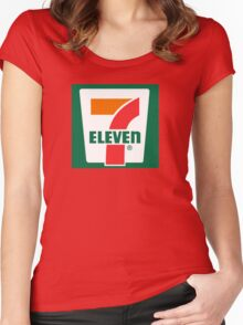 7-11 Logo, Simple. Women's Fitted Scoop T-Shirt