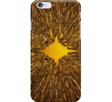 Golden starburst background iPhone Case/Skin