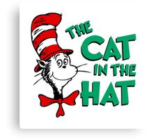 The Cat In The Hat Dr Seuss Canvas Print