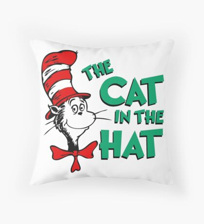 The Cat In The Hat Dr Seuss Throw Pillow