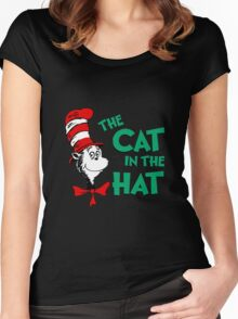 The Cat In The Hat Dr Seuss Women's Fitted Scoop T-Shirt