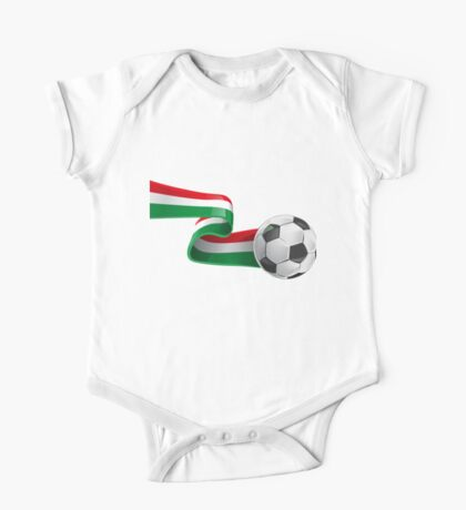 Abstract 3d Italy flag football ribbon tails One Piece - Short Sleeve