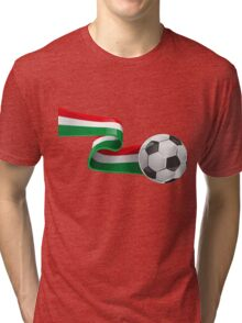 Abstract 3d Italy flag football ribbon tails Tri-blend T-Shirt