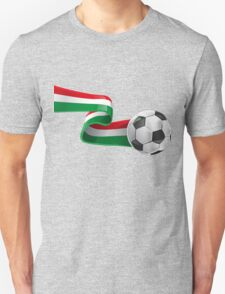 Abstract 3d Italy flag football ribbon tails T-Shirt