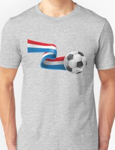 Abstract 3d France flag football ribbon tails T-Shirt