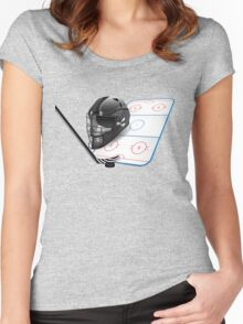 Ice hockey sports equipment Women's Fitted Scoop T-Shirt