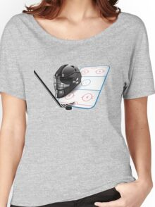 Ice hockey sports equipment Women's Relaxed Fit T-Shirt
