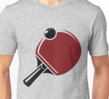 Red table tennis bat and ball Unisex T-Shirt